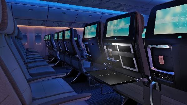 rohi公司提议的多彩座椅面料打破了这一致性,给客舱增添了一些花样.